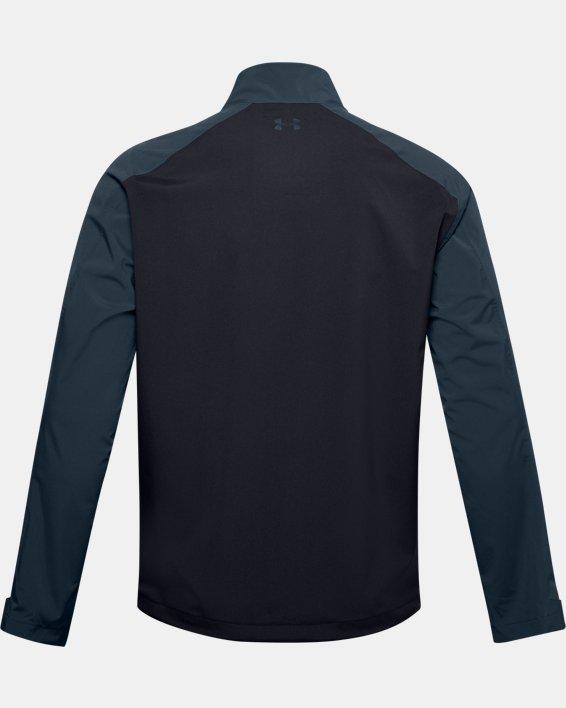 Men's UA Golf Rain Jacket, Black, pdpMainDesktop image number 4