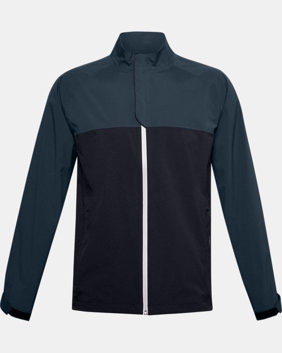 Men's UA Golf Rain Jacket, Black, pdpMainDesktop image number 3