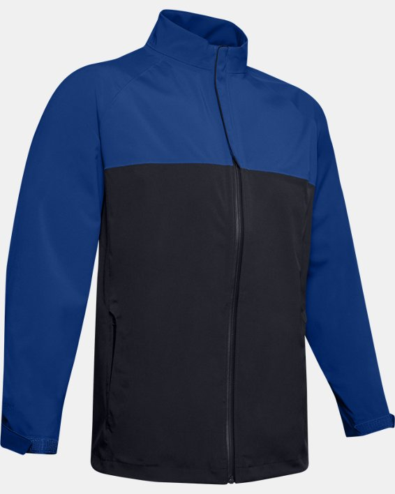 Men's UA Golf Rain Jacket, Blue, pdpMainDesktop image number 3