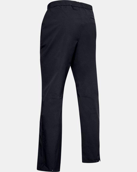 Men's UA Golf Rain Pants, Black, pdpMainDesktop image number 4
