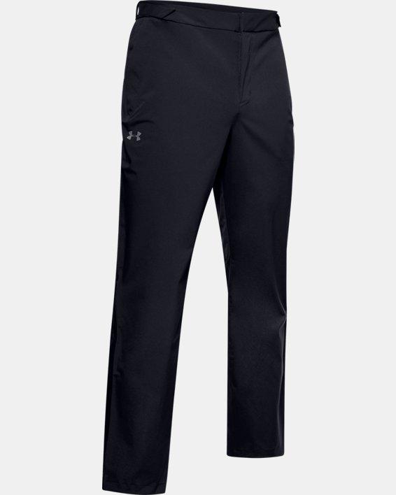 Men's UA Golf Rain Pants, Black, pdpMainDesktop image number 3