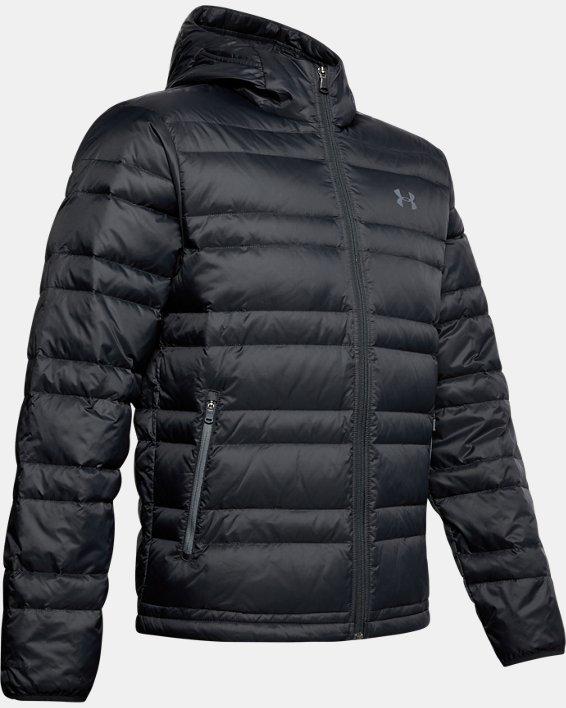 Men's UA Armour Down Hooded Jacket, Black, pdpMainDesktop image number 4