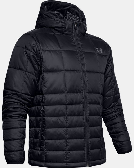 Men's UA Armour Insulated Hooded Jacket, Black, pdpMainDesktop image number 3