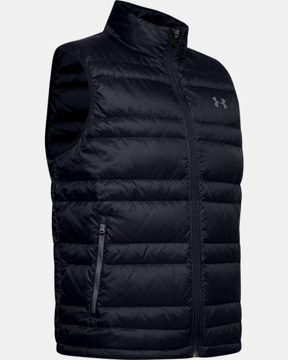 Men's UA Armour Down Vest, Black, pdpMainDesktop image number 4