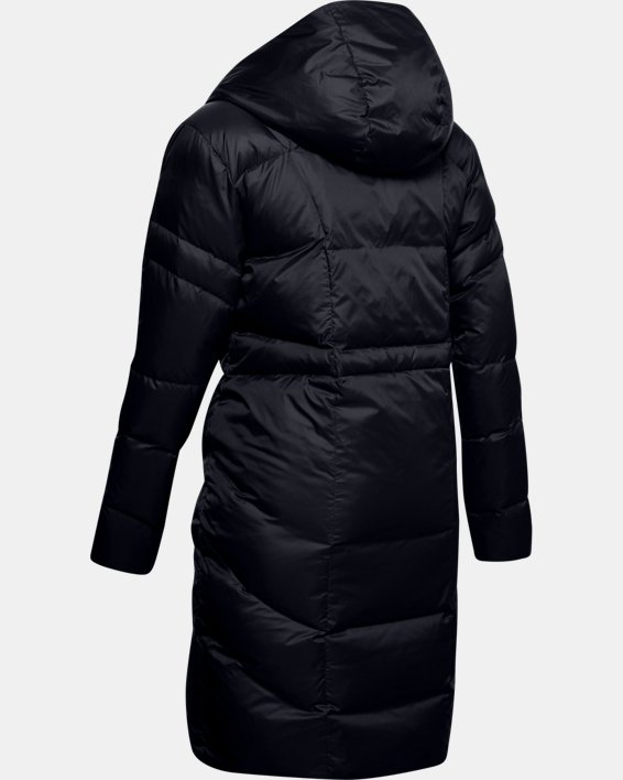 Women's UA Armour Down Parka, Black, pdpMainDesktop image number 4