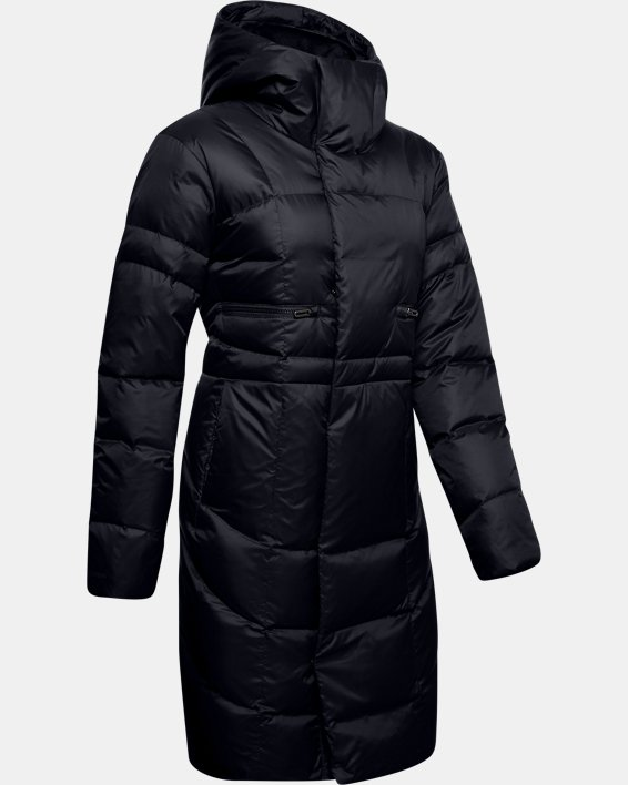 Women's UA Armour Down Parka, Black, pdpMainDesktop image number 3