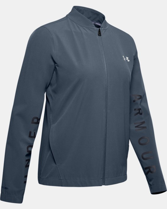 Women's UA Storm Launch Linked Up Jacket, Gray, pdpMainDesktop image number 3