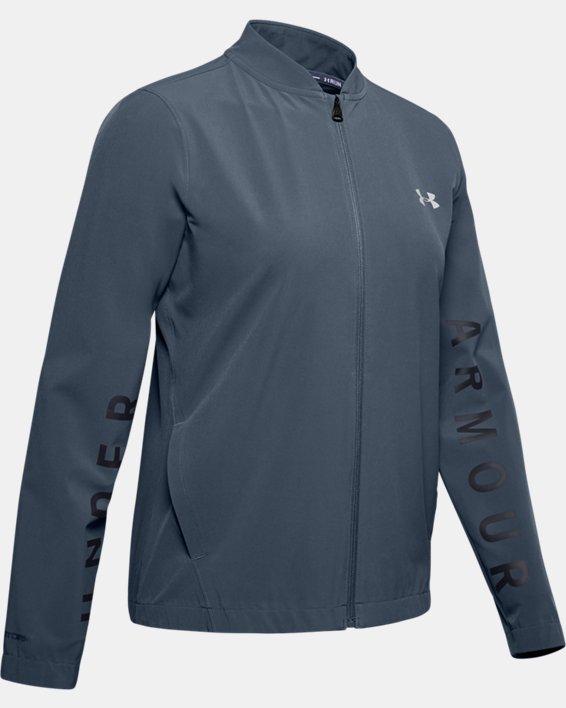 Women's UA Storm Launch Linked Up Jacket, Gray, pdpMainDesktop image number 3