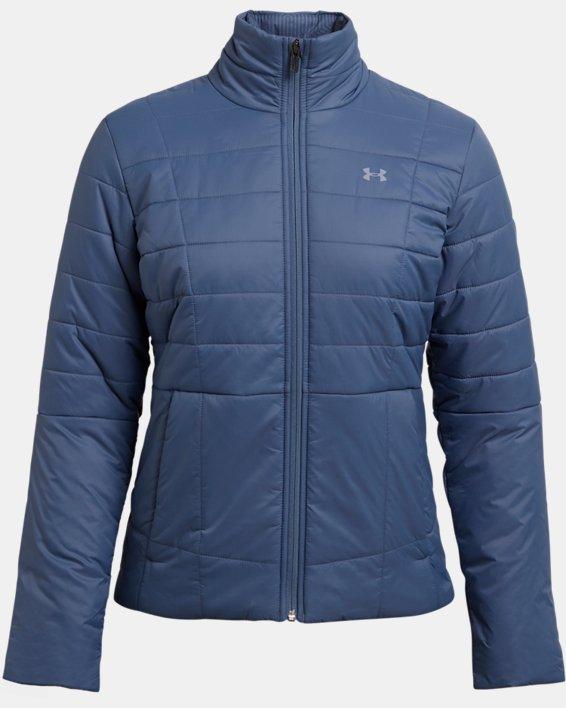 Women's UA Armour Insulated Jacket, Blue, pdpMainDesktop image number 3