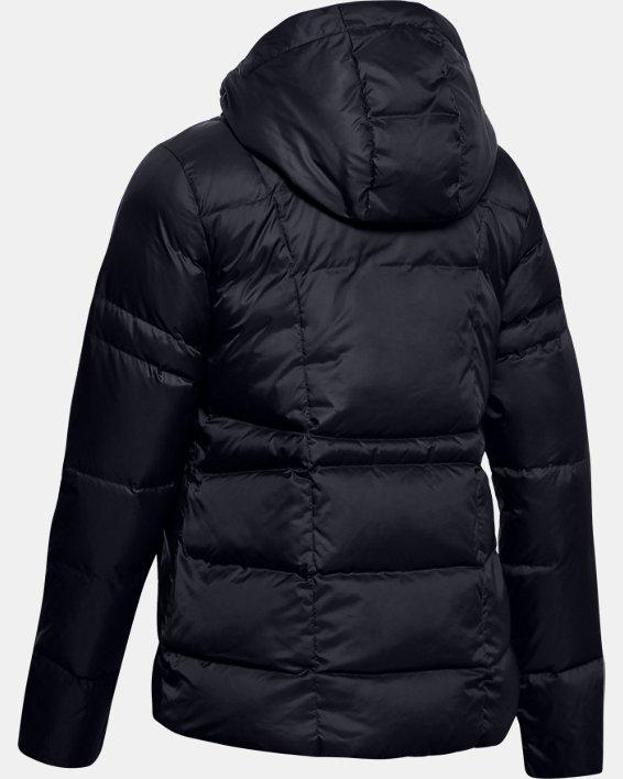 Women's UA Armour Down Hooded Jacket, Black, pdpMainDesktop image number 5