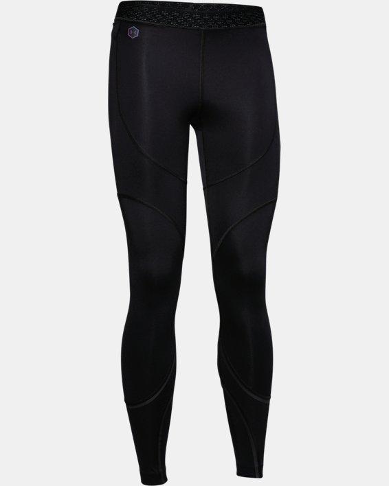Women's UA RUSH™ ColdGear® Run Tights, Black, pdpMainDesktop image number 3