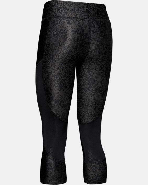 Women's UA Speed Stride Printed Capri, Black, pdpMainDesktop image number 5