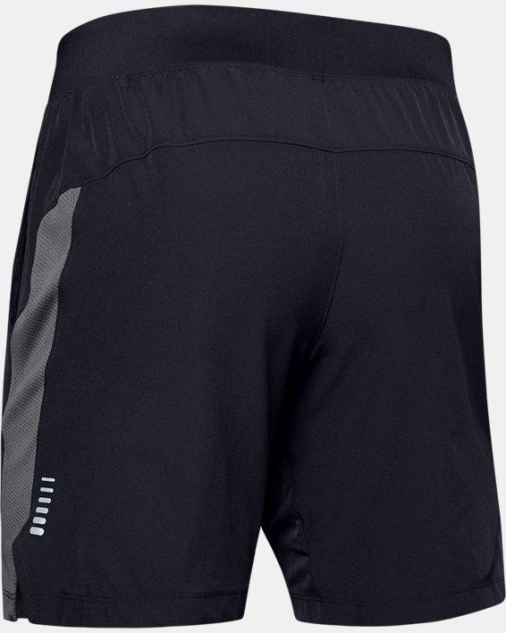 Men's UA Speedpocket Linerless 9'' Shorts, Black, pdpMainDesktop image number 4