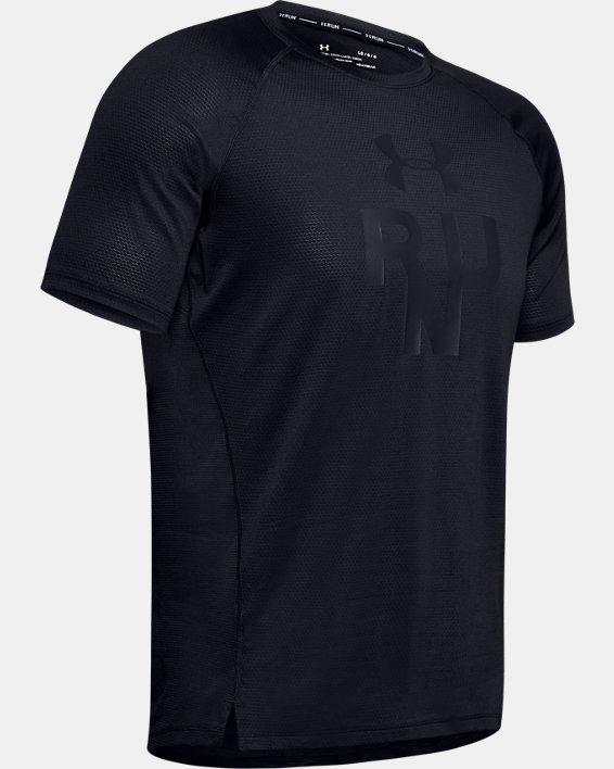 Men's UA Qualifier Glare Short Sleeve, Black, pdpMainDesktop image number 4