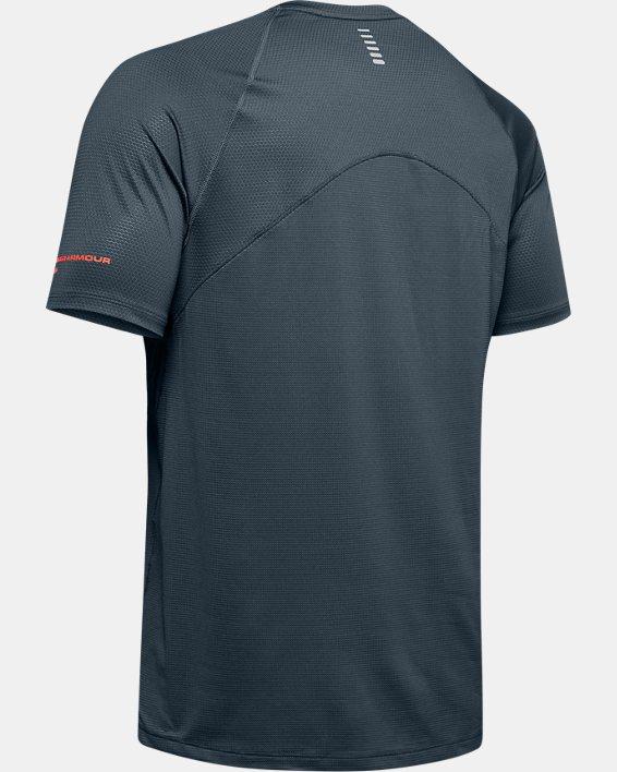 Men's UA Qualifier Glare Short Sleeve, Gray, pdpMainDesktop image number 5