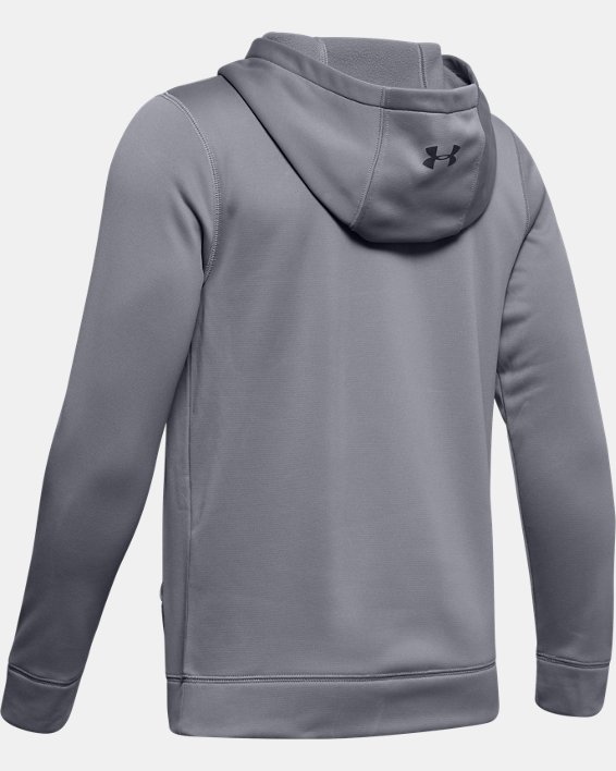 Boys' UA Hockey Hoodie, Gray, pdpMainDesktop image number 1