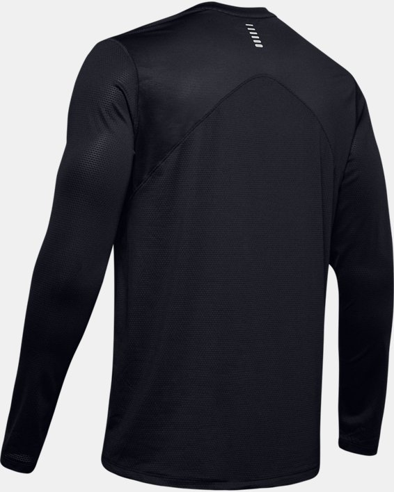Men's UA Qualifier Long Sleeve, Black, pdpMainDesktop image number 5