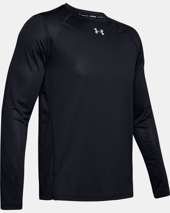 Men's UA Qualifier Long Sleeve, Black, pdpMainDesktop image number 4