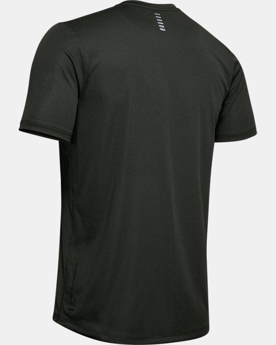 Men's UA Run Warped Short Sleeve, Green, pdpMainDesktop image number 4