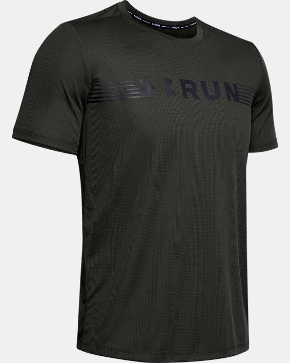 Men's UA Run Warped Short Sleeve, Green, pdpMainDesktop image number 3