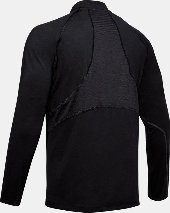 Men's UA RUSH™ ColdGear® Run ½ Zip, Black, pdpMainDesktop image number 4