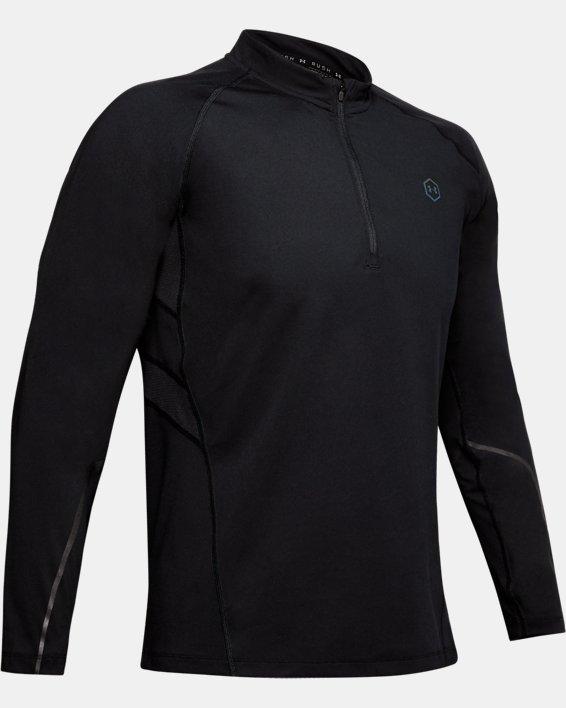 Men's UA RUSH™ ColdGear® Run ½ Zip, Black, pdpMainDesktop image number 3
