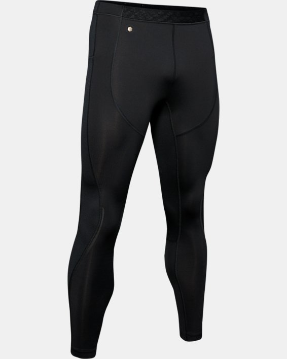 Men's UA RUSH™ ColdGear® Run Tights, Black, pdpMainDesktop image number 4