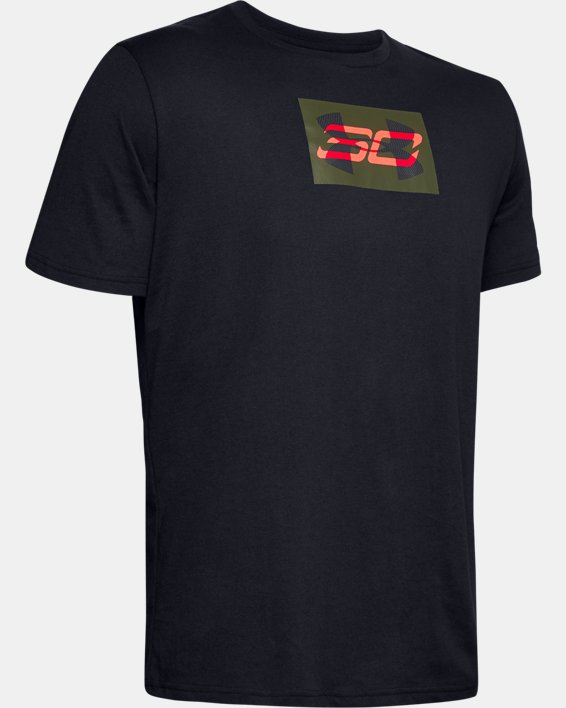 Men's SC30 Overlay Short Sleeve T-Shirt, Black, pdpMainDesktop image number 4