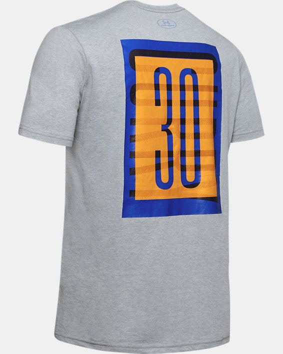 Men's SC30 Overlay Short Sleeve T-Shirt, Gray, pdpMainDesktop image number 5