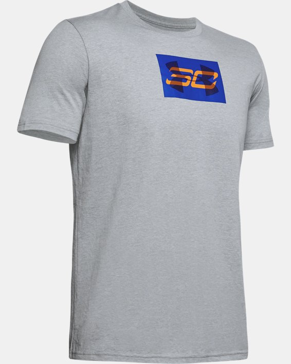 Men's SC30 Overlay Short Sleeve T-Shirt, Gray, pdpMainDesktop image number 4