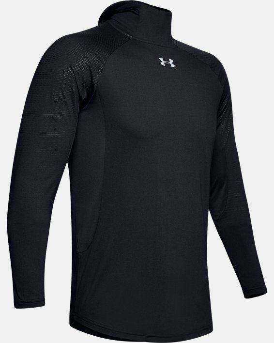 Men's UA Select Long Sleeve Shooting Shirt, Black, pdpMainDesktop image number 3