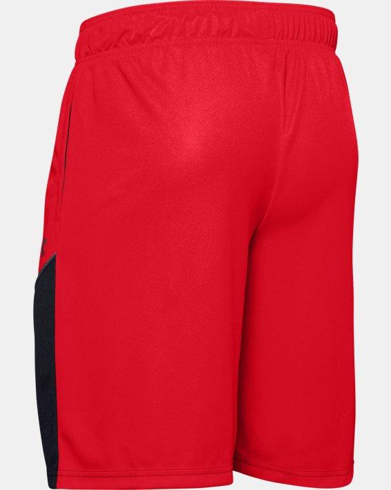 """Men's UA Baseline 10"""" Shorts, Red, pdpMainDesktop image number 5"""