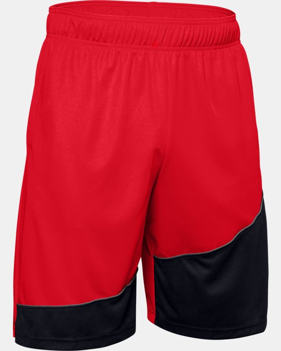 """Men's UA Baseline 10"""" Shorts, Red, pdpMainDesktop image number 4"""