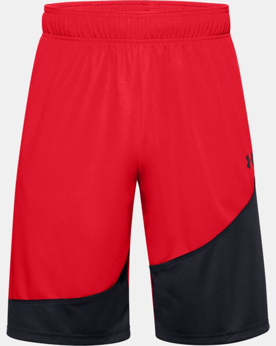 "Men's UA Baseline 10"" Shorts, Red, pdpMainDesktop image number 0"