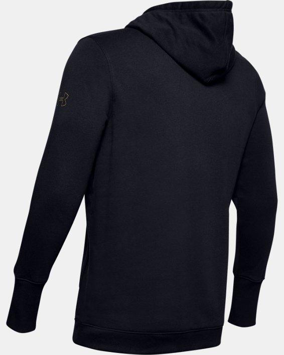 Men's UA Baseline Fleece Hoodie, Black, pdpMainDesktop image number 5