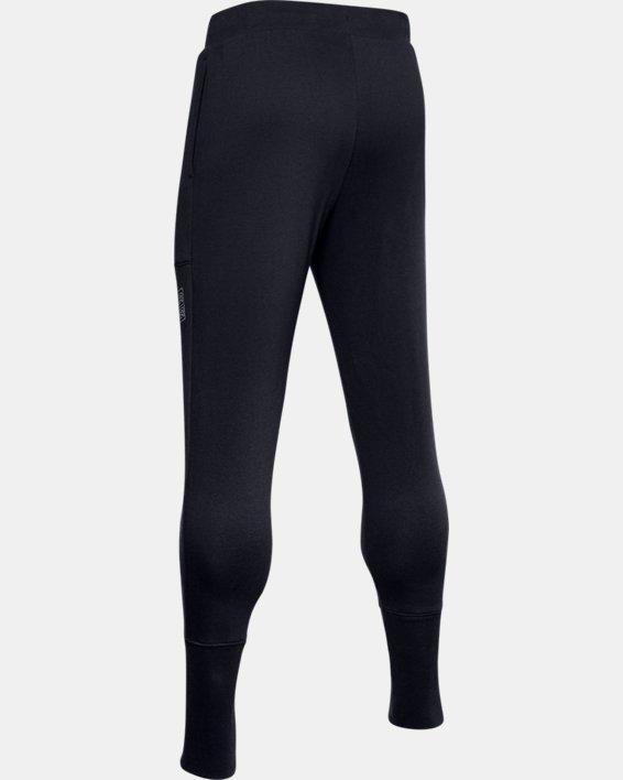 Pantalon de jogging UA Baseline Fleece pour homme, Black, pdpMainDesktop image number 5