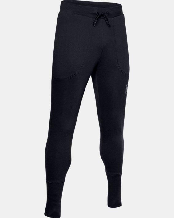 Pantalon de jogging UA Baseline Fleece pour homme, Black, pdpMainDesktop image number 4