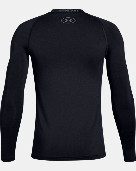 Boys' HeatGear® Armour Long Sleeve, Black, pdpMainDesktop image number 5