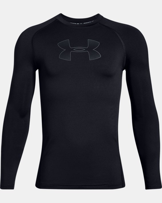 Boys' HeatGear® Armour Long Sleeve, Black, pdpMainDesktop image number 4