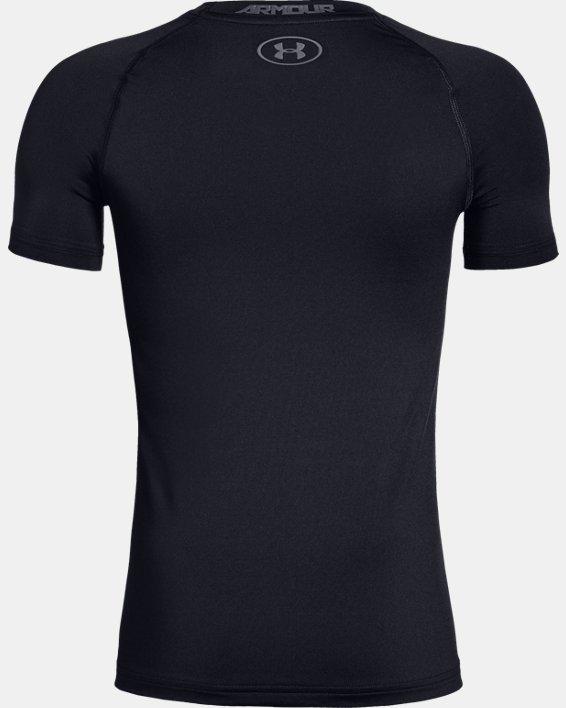 Boys' HeatGear® Armour Short Sleeve, Black, pdpMainDesktop image number 5