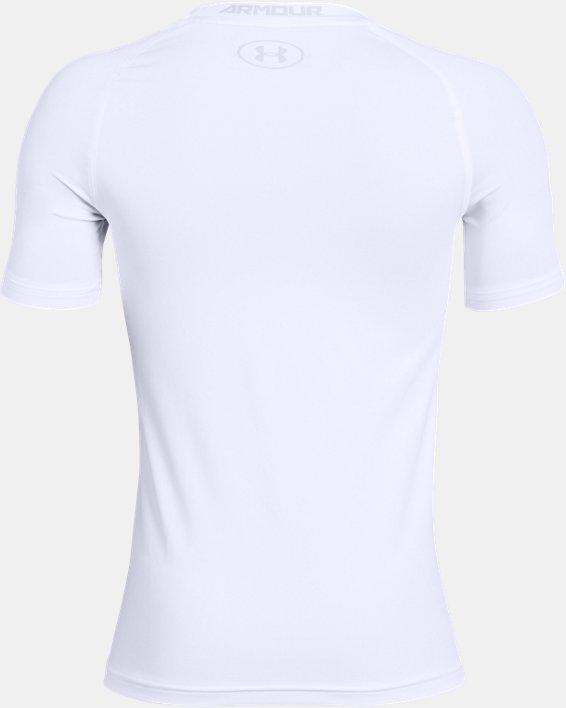 Boys' HeatGear® Armour Short Sleeve, White, pdpMainDesktop image number 5