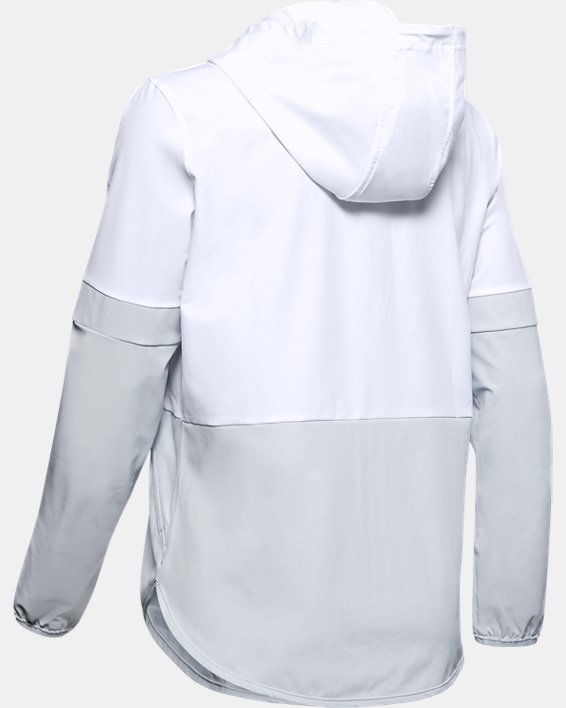 Women's UA Squad 2.0 Woven Jacket, White, pdpMainDesktop image number 1