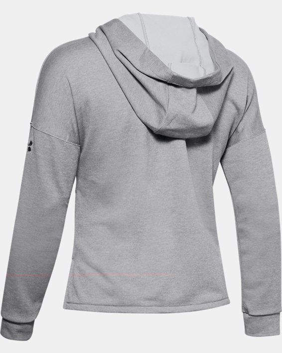 Women's UA Cross Town Hoodie, Gray, pdpMainDesktop image number 5