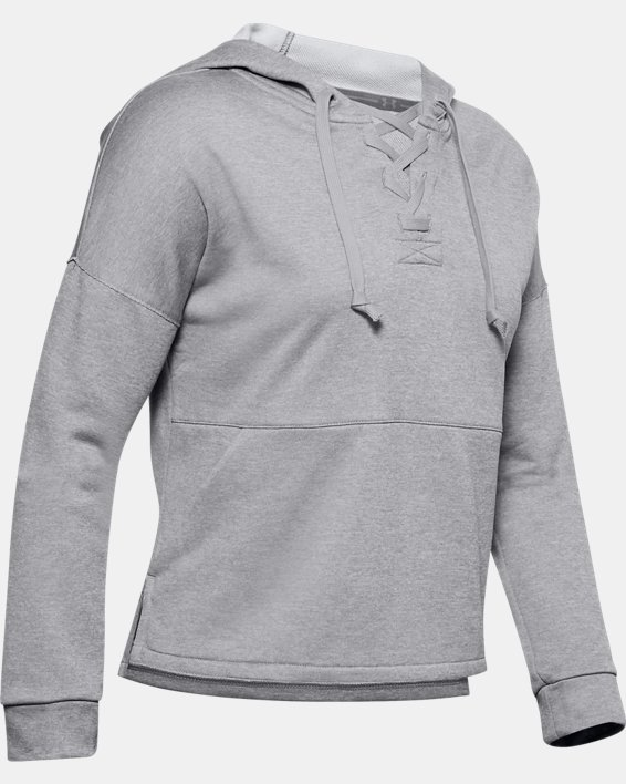 Women's UA Cross Town Hoodie, Gray, pdpMainDesktop image number 4