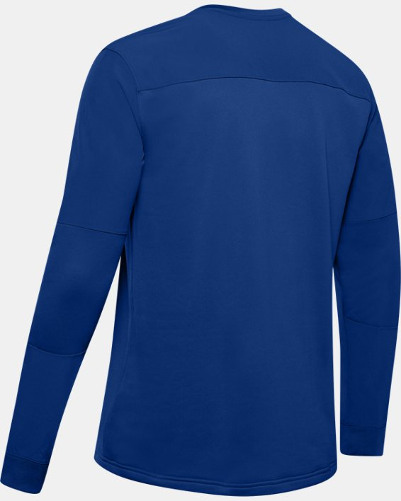 Men's UA CTG Warm-Up Layering Crew, Blue, pdpMainDesktop image number 5