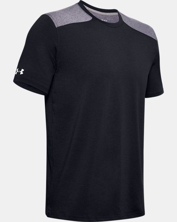 Men's UA Sportstyle Stadium Short Sleeve T-Shirt, Black, pdpMainDesktop image number 4