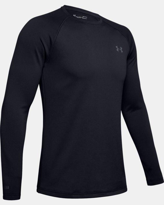 Herren ColdGear® Base3.0 Shirt mit Rundhalsausschnitt, Black, pdpMainDesktop image number 5