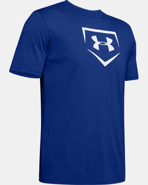 Men's UA Plate Graphic T-Shirt, Blue, pdpMainDesktop image number 4