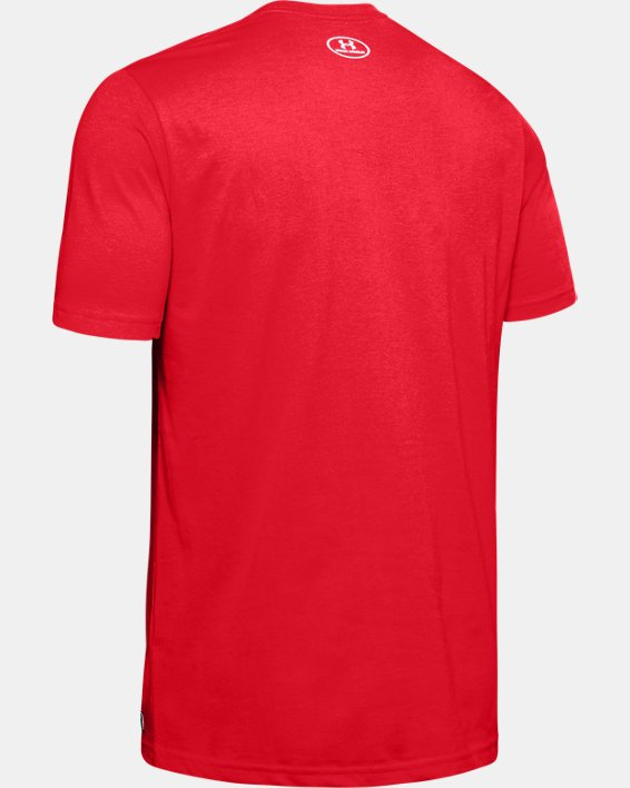 Men's UA Plate Graphic T-Shirt, Red, pdpMainDesktop image number 5