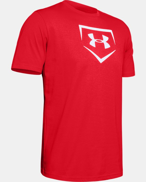 Men's UA Plate Graphic T-Shirt, Red, pdpMainDesktop image number 4